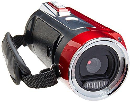 RCA EZ5162RD Video Cámara, Pantalla LCD DE 2.7', Full HD, Zoom Digital 8X, Color Rojo