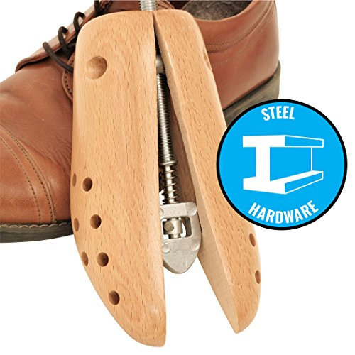 Premium Beech Wood Two-Way Adjustable Shoe Stretcher, Professional Shoe Tree for Men and Women (One Stretcher) by Plixio (Image #2)