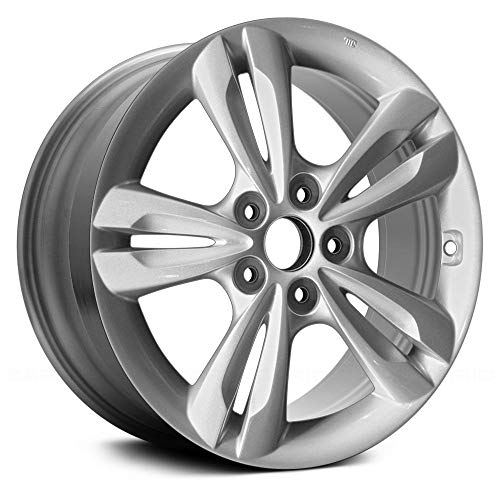 Replacement 5 Double Spokes All Painted Silver Metallic Factory Alloy Wheel Fits Hyundai Tucson