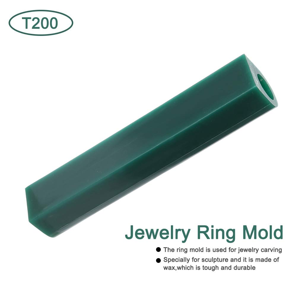 T250 Jewelry Ring Tool Green Carving Wax Tube Carving Wax Ring Tube for Making Rings Mold Round Wax Tube With Centred Hole//Hard Wax//Solid Carving Wax Tube blank Large Flat Side Tube