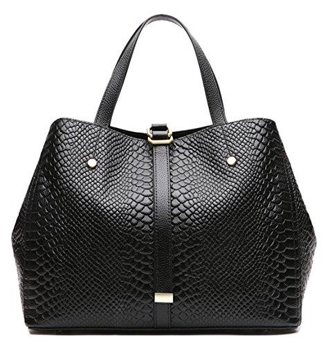 Sacs d'épaule en cuir de première couche noirs pour femme Saierlong pour femmes