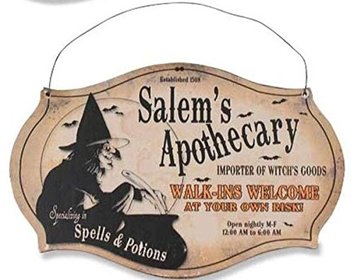 Sir Holiday Witching Hour Store Sign   Salems Apothecary
