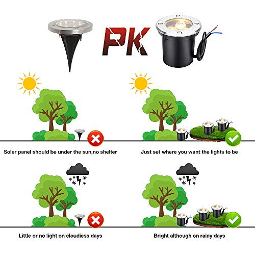 LCARED Low Voltage Landscape Lights 12V-24V LED Landscape Lighting 6W in Ground Waterproof Pathway Lights Warm White Outdoor spotlights for Garden,Yard,Patio,Step, Deck(6 Pack) by LCARED (Image #6)
