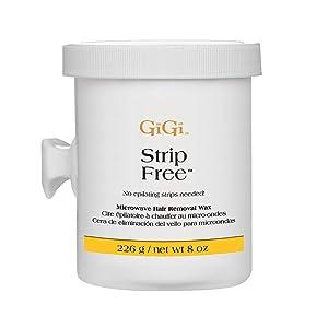 GiGi Strip Free Microwave Formula Hair Removal Wax, 8 oz