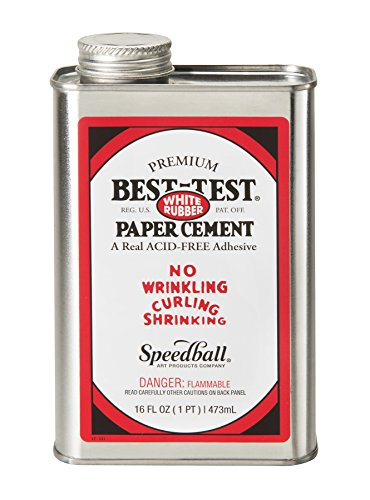 Best-Test Premium Paper Cement 16OZ - Cement Test Best Rubber