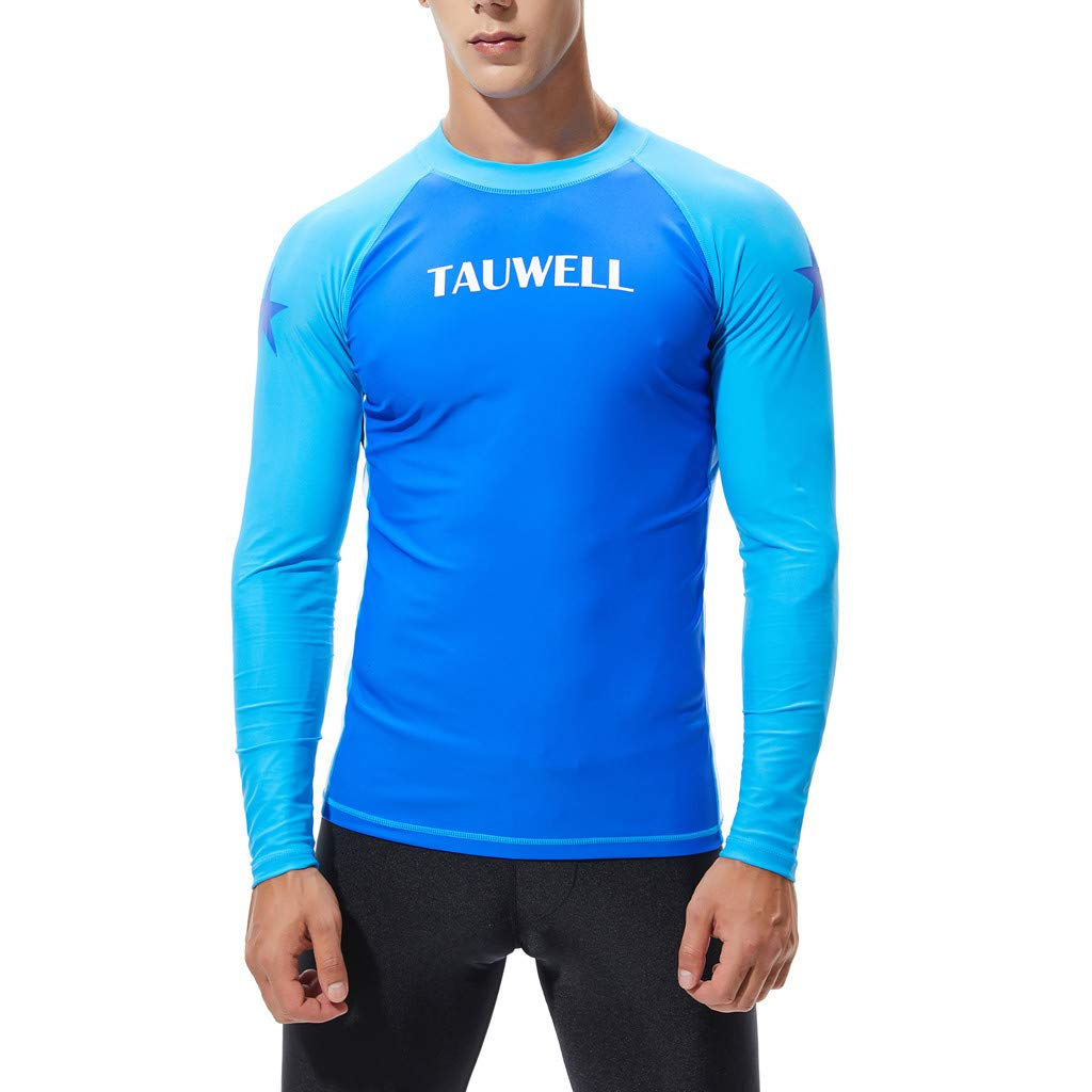 Mr.Macy Men Long Sleeve Rashguard UV Sun Protection Skins Surfing Diving Swiming T Shirt