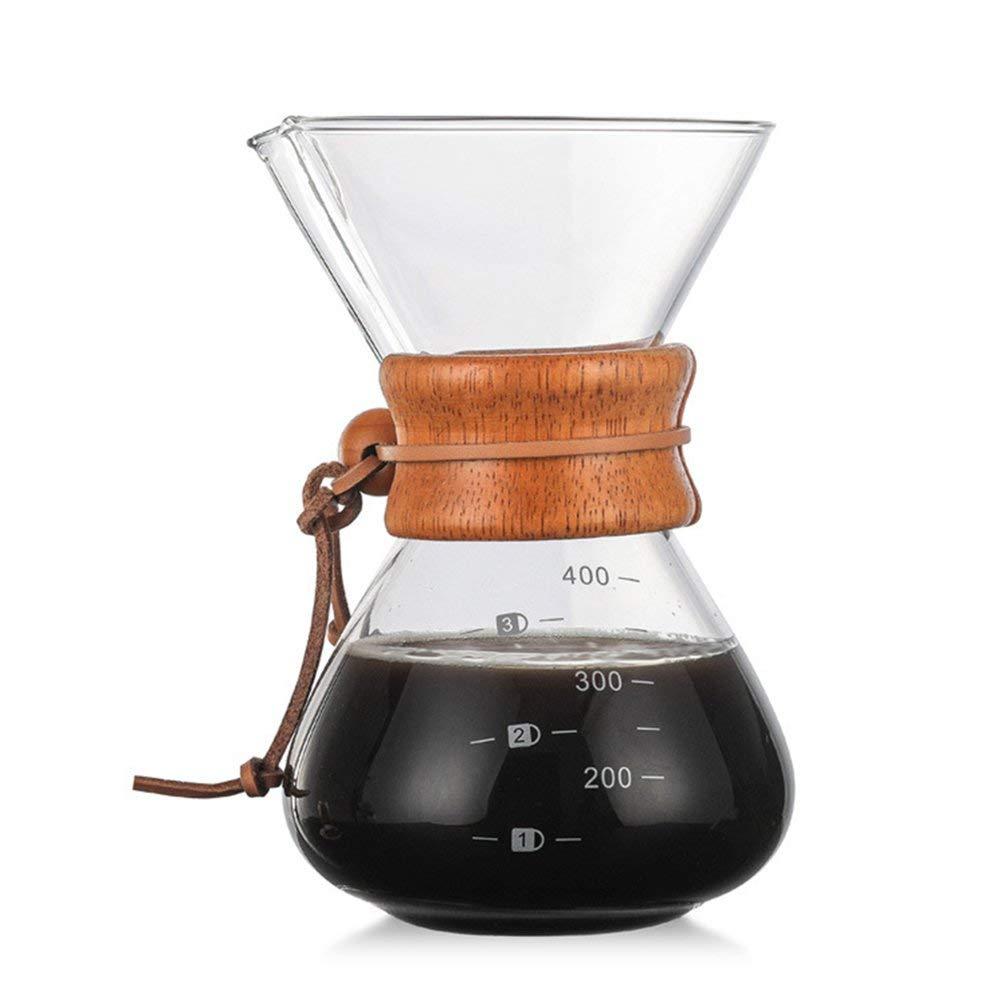 Acquisto Macchina Da Caffè Caffettiera Da Caffè in Vetro Borosilicato Da 400 Ml Con Filtro in Acciaio Inossidabile Riutilizzabile Prezzi offerta