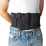 Chengyuan Belt-Holster Versatile Belly Band Holster Concealed Carry with Magazine Pocket/Pouch for Women/Men Fits Glock, Ruger LCP, M and P Shield, Sig Sauer, Kahr, Beretta, 1911
