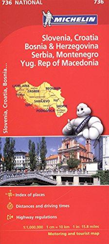 Slovenia, Croatia, Bosnia - Michelin National Map 736 (Michelin National Maps)