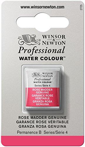 Winsor & Newton Professional Water Colour Paint, Half Pan, Rose Madder - Genuine Pan