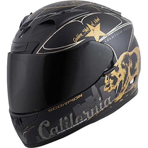 (Scorpion EXO-R710 Golden State Street Motorcycle Helmet (Black, Medium))