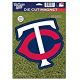 MLB Minnesota Twins 82765010 Die Cut Logo Magnet, Small, Black