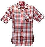 Funktions-Hemd Freizeit-Hemden Herren Kurzarm von Fifty Five - André red/blue/white check 2XL - Quick-Dry und UV-Schutz für Outdoor-Bekleidung