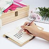 Keeswin Pen, Smooth, Fine Point, Metal Twist Roller Ball Pen Set ( 0.5mm Black&Blue Gel Ink Pen Refills)-Rose Gold Barrel