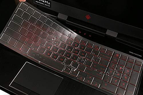 Premium Ultra Thin TPU Keyboard Cover Compatible HP OMEN 15-DC 15.6 Series, HP 15-dc0010nr 15-dc0020nr 15-dc0030nr dc0045nr 15-dc0051nr dc0052nr dc0086nr dc0087nr dc0096nr 17-cb005 Gaming Laptop