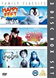 Happy Feet/Charlie And The Chocolate Factory/Corpse Bride [DVD] [2006]
