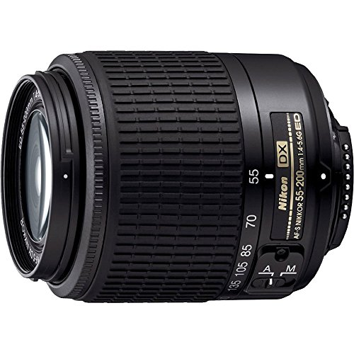 Nikon 55-200mm f4-5.6G ED AF-S DX Nikkor Zoom Lens (Renewed)