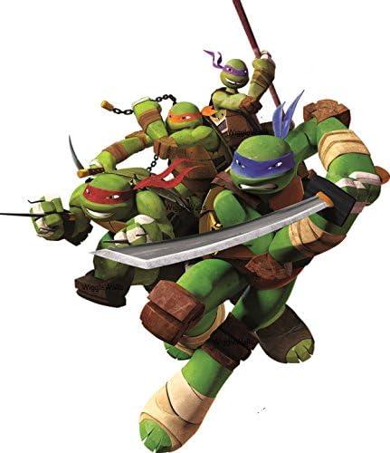 Teenage Mutant Ninja Turtles action figures Léo Donnie Raphael MIKEY 6 Pcs Set