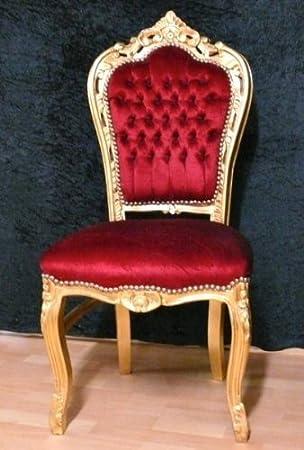 Salle A Manger Chaise De Style Baroque Battre Gold Edition Tissu