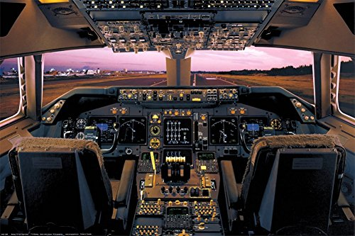 400 Boeing House (Laminated Boeing 747-400 Flight Deck Poster 24x36)