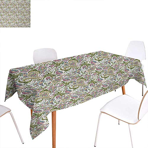 Pickle Pattern - Warm Family Paisley Printed Tablecloth Traditional Persian Pickles Pattern Vintage Style Arabesque Ornament Rectangle Tablecloth 70