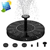 ZealBea Focus Solar Fountain Pump Solar Powered Bird Bath Fountain Freestanding Submersible Solar Outdoor Panel Kit Water Pump for Birdbath, Pond, Pool,Garden Fish Tank and Lawn【2018 Upgraded】