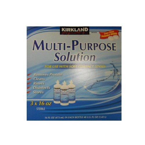 Kirkland Signature Multi-Purpose Solution stérile pour Tout contact souple Lens, 3 Count