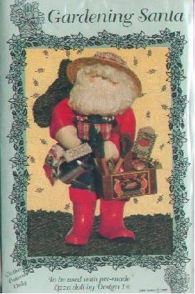 Little Lambs Pattern PS106 Gardening Santa Doll Clothes