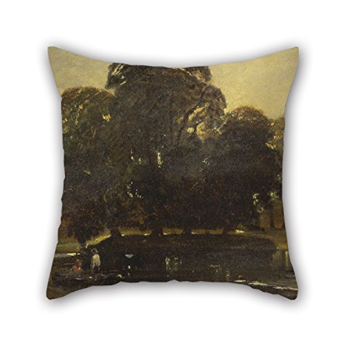 16 X 16 Inches / 40 By 40 Cm Oil Painting William James Muller - A View Of Eton And The Fellows Eyot Pillow Cases Two Sides Ornament And Gift To Relatives Drawing Room Son Home Lounge Office