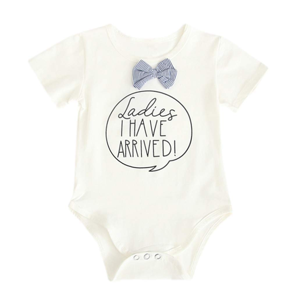 Newborn Infant Baby Boys Girl Funny Letter Cotton Romper Jumpsuit Outfit Clothes