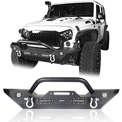 e91f39af72 Hooke Road 2007-2018 Jeep Wrangler JK Different Trail Front Bumper w/Winch  Plate