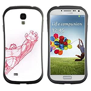 Suave TPU GEL Carcasa Funda Silicona Blando Estuche Caso de protección (para) Samsung Galaxy S4 I9500 / CECELL Phone case / / muscle bodybuilding arm strength red /