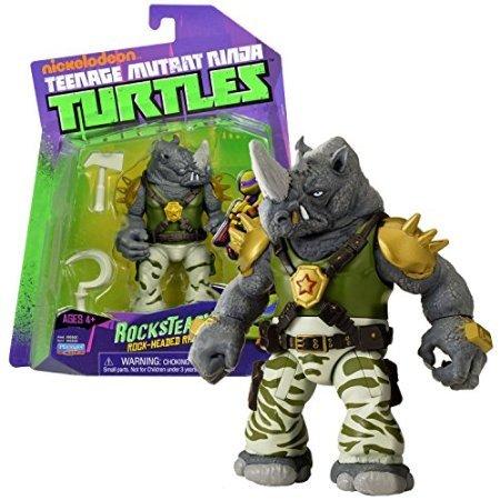Playmates Year 2014 Nickelodeon Teenage Mutant Ninja Turtles 5 Inch Tall Action Figure : Rock-Headed Rhino ROCKSTEADY with Hammer and Sickle -