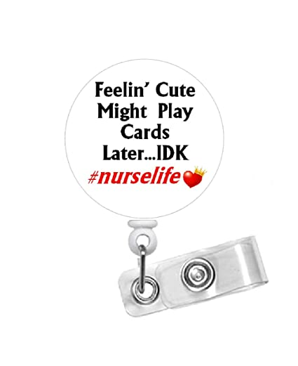 Amazon com : Playing Cards Badge Reel - Funny Badge Holder
