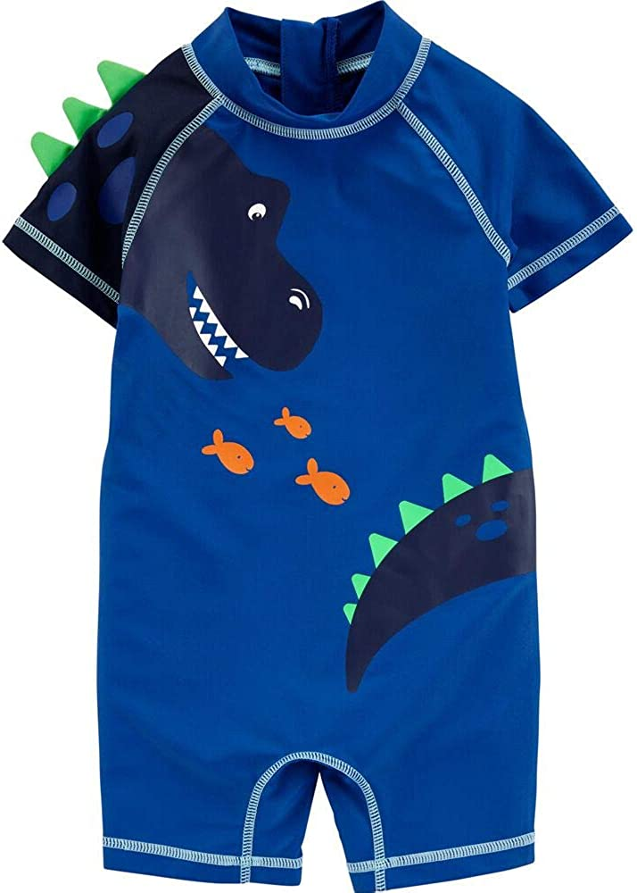 Carter's 1-Piece Dinosaur Rashguard Swimsuit (9 Months) Blue