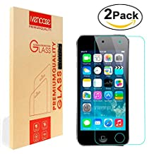 [2-Pack] iPod Touch 6th / 5th Screen Protector, Ivencase [Premium Tempered Glass] Ultra Slim [0.26 mm] Clarity Clear Protective Screen Film for Apple iPod Touch 6G 6th & 5G 5th Generation