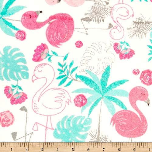 Shannon Fabrics Studio Minky Cuddle Flamingo Blush Fabric Fabric by the Yard (Fabric Flamingo)