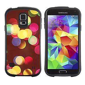 """Hypernova Slim Fit Dual Barniz Protector Caso Case Funda Para Samsung Galaxy S5 [Colores Vivos Night City Desenfoque Amarillo""""]"""