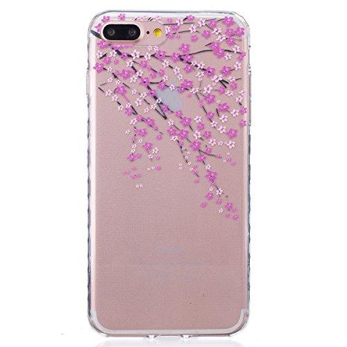 Für Apple iPhone 6 Plus / iPhone 6S Plus (5.5 Zoll) Hülle ZeWoo® TPU Schutzhülle Silikon Tasche Case Cover - BF089 / Pfirsichblüte