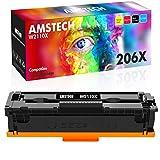 Amstech Compatible Toner Cartridge Replacement for HP 206X 206A W2110X W2110A Toner HP Color Laserjet Pro MFP M283fdw M255dw M283cdw M282nw M283 M282 M255 Printer High Yield (Black, 1-Pack)