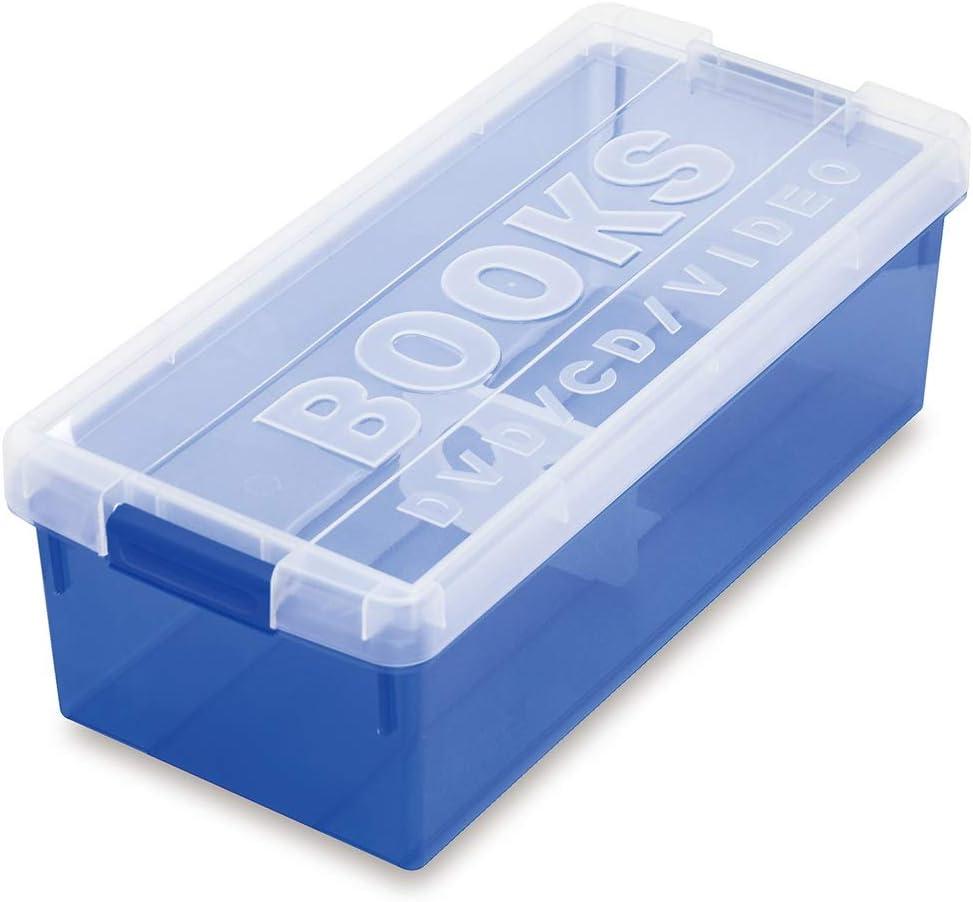 GWXJZ Estanterías para CD DVD Caja de Almacenamiento Comic Storage Case Ps4 Juego CD DVD Disco Estante de Almacenamiento (Color : Azul): Amazon.es: Hogar
