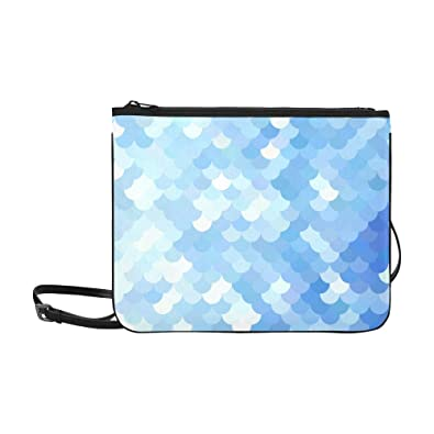 f8a8bf3eaefa Image Unavailable. Image not available for. Color  Blue Roof Tiles Pattern  Creative Design Templates Pattern Custom High-grade Nylon Slim Clutch Bag