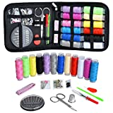 Sewing Kit, Zipper Portable Mini Sewing Kits for Adults, Kids, Traveler, Beginner, Emergency, Family Repair, Sewing Supplies with 12 Color Thread, Scissors, Needles, Tape Measure and Other Accessories