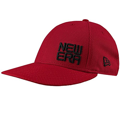 New Era Golf Tour 59FIFTY Stacked Logo Fitted Cap-7 1/4 (Scarlet, Size 7 1/4)