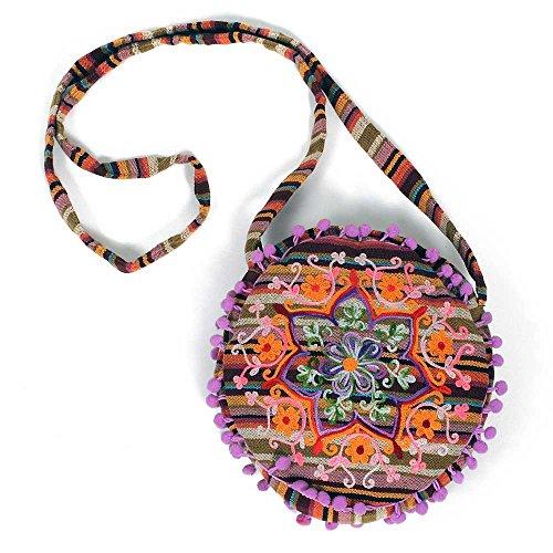 HAB & GUT -IB00V- design et coloris différents, Sac de femme indien, 100% coton, sacs à bandoulière colorés Sarala
