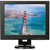 12' Inch Square Monitor 4:3/16:9 Portable TFT LCD Color Computer Monitor Display 800x600 with HDMI BNC VGA AV Input for DVR DVD FPV Video Monitor PC TV Screen CCTV Cam Surveillance