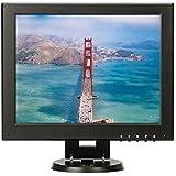 12 Inch Square Monitor 4:3/16:9 Portable TFT LCD Color Computer Monitor Display 800x600 with HDMI BNC VGA AV Input for DVR DVD FPV Video Monitor PC TV Screen CCTV Cam Surveillance