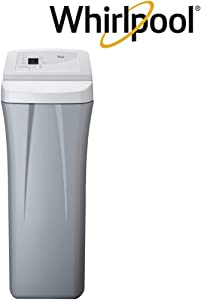 Whirlpool WHES40E 40,000 Grain Water Softener-Built in USA-Salt Saving Technology-NSF Certified, Off-White