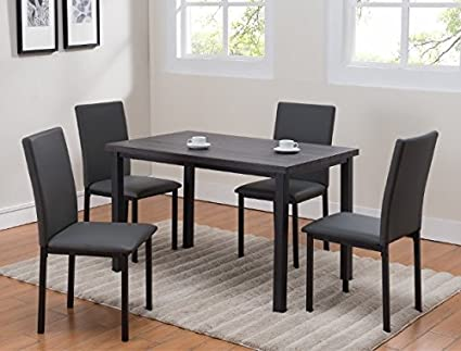 Amazon.com - Orlo 5-Pc Dining Table Set w/Upholstered Chairs ...