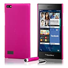 32nd® Hard shell protective case cover for BlackBerry Leap, including touch stylus - Hot Pink